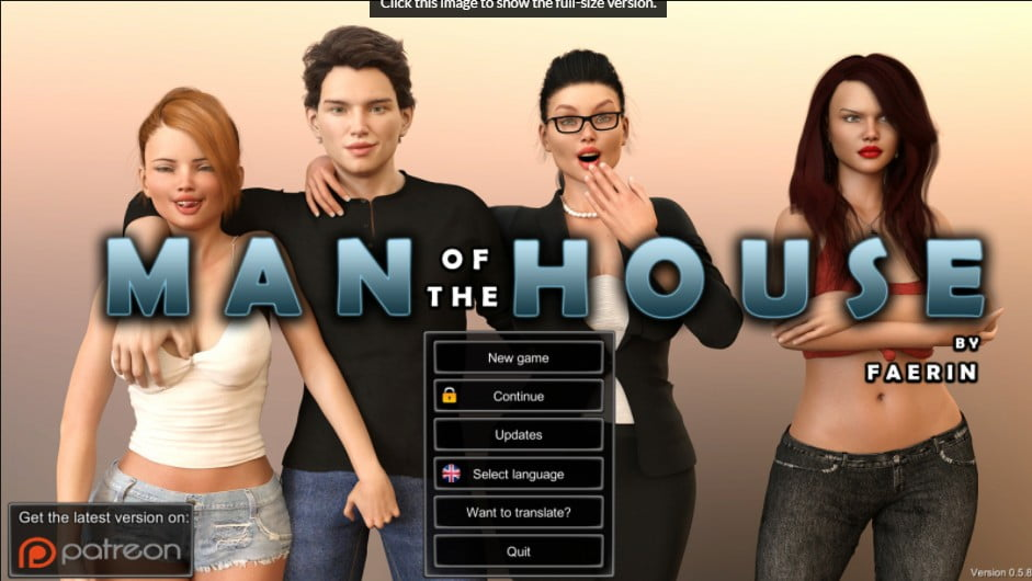 Man of the House Adult Game Cover