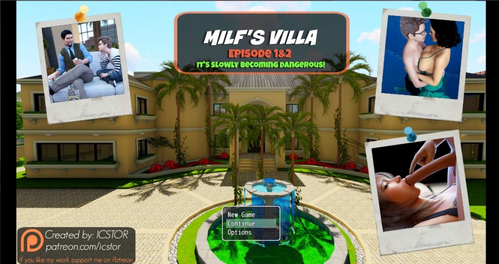 Milf's Villa Adult Game Cover