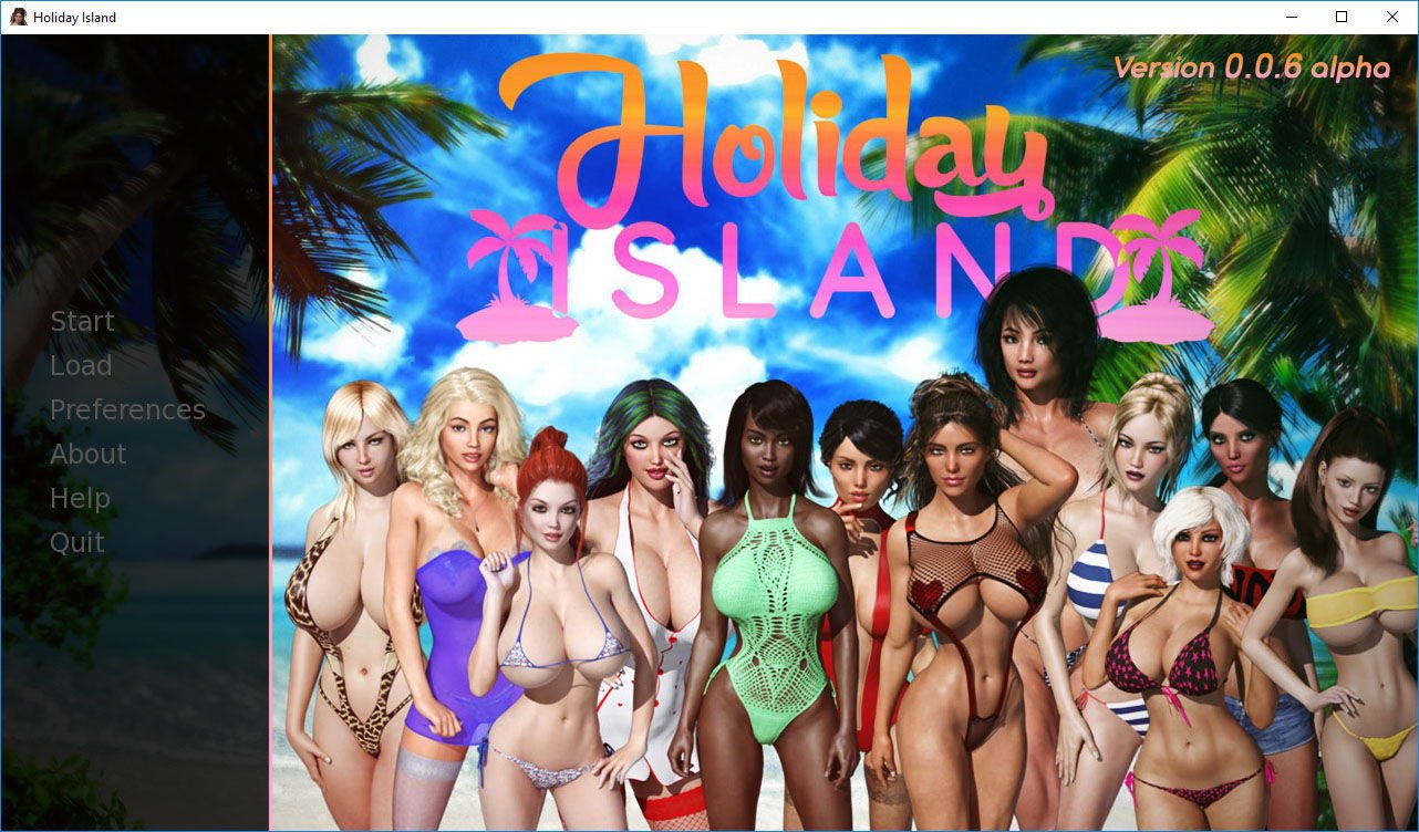 Holiday Island Adult Game Cover
