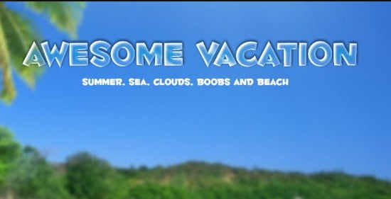 Awesome Vacation Adult Game Cover