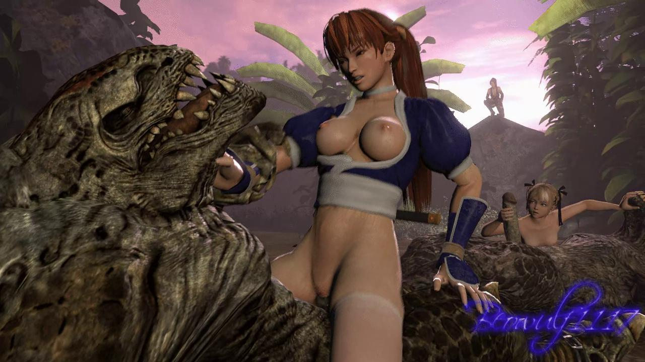 Kasumi Rides a Monster Cock