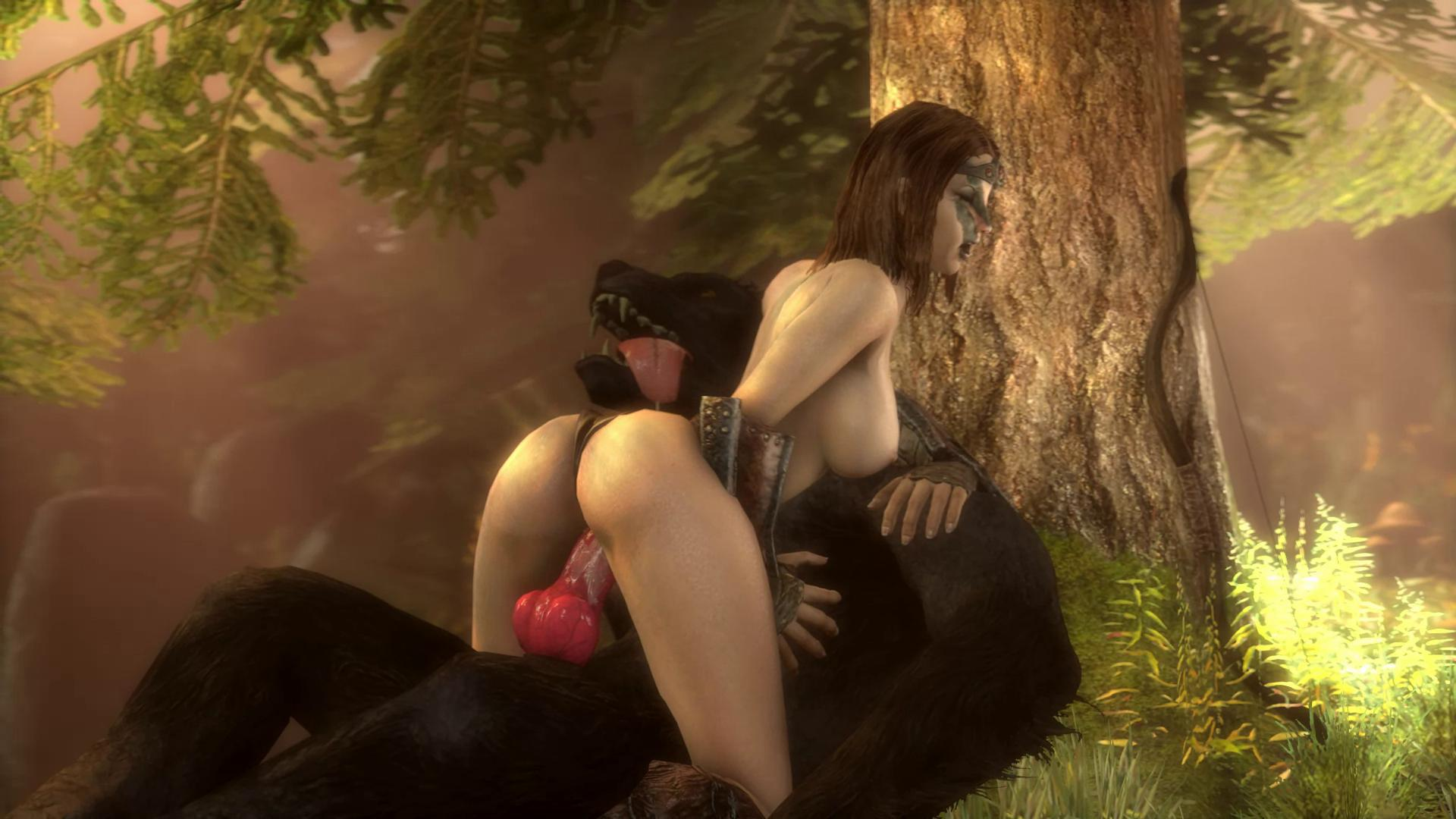 Aela the Huntress Fucks a Werewolf