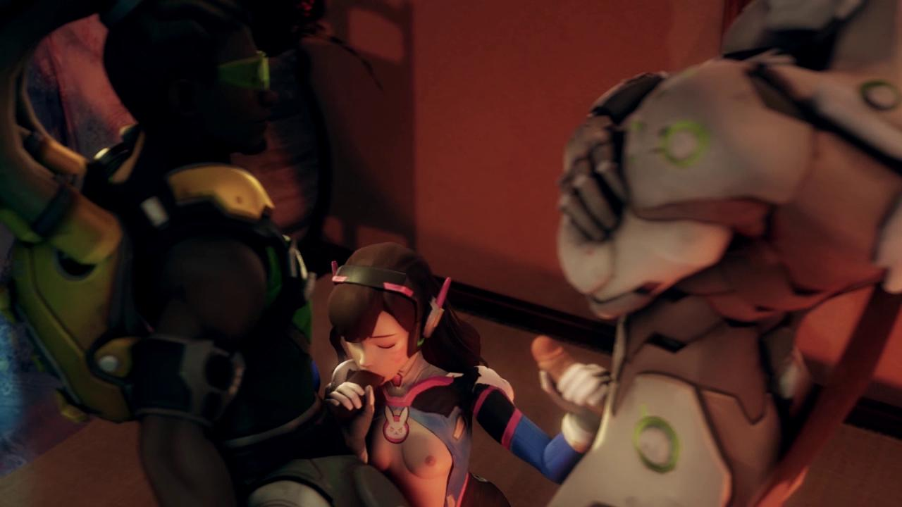 D.Va Entertaining Soldier 76 and Friends