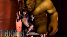 D.Va Fucked by an Orc Adult Animation