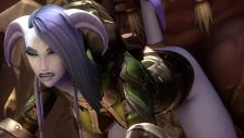 Draenei Anal Sex with Voregash Adult Animation