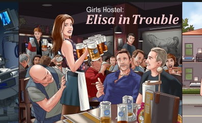 Girls Hostel: Elisa in Trouble Adult Game Cover