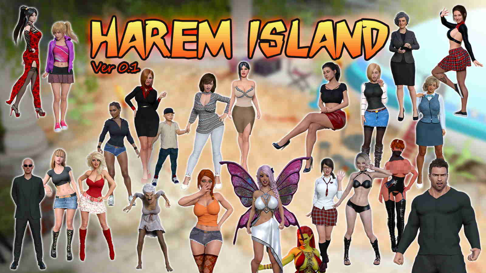 Harem Island Adult Game Cover