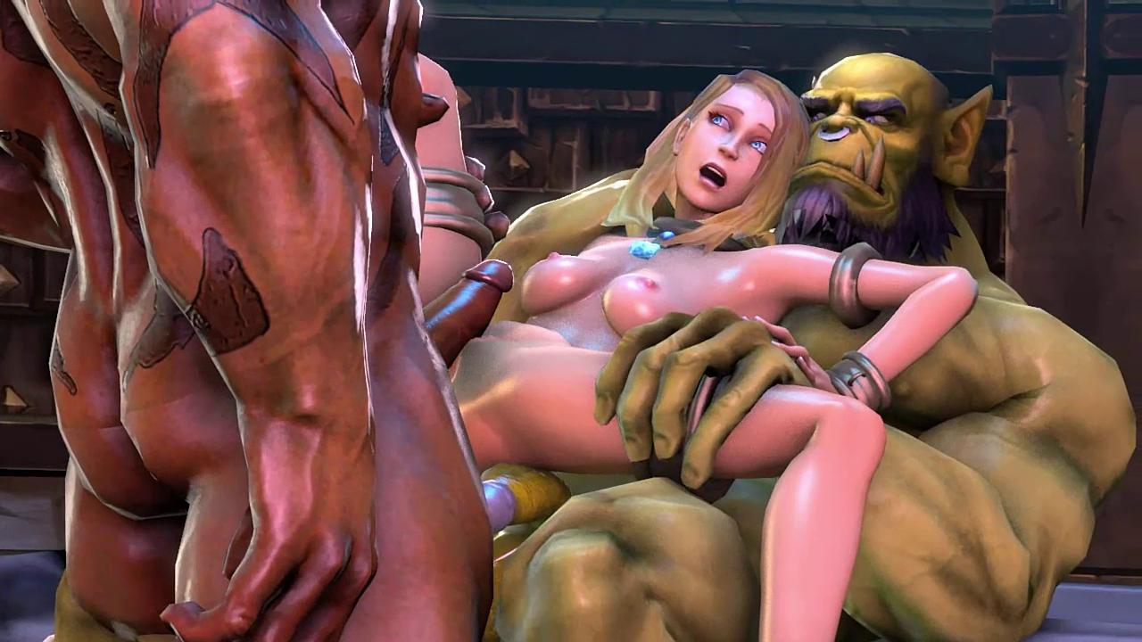 Jaina Shares her Pussy with Thrall and Gorash