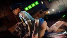 Jill Valentine Riding a Monster's Cock Adult Animation