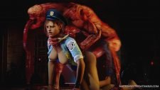 Jill Valentine Sex with a Licker Adult Animation