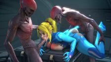 Samus Aran Alien Threesome Adult Animation
