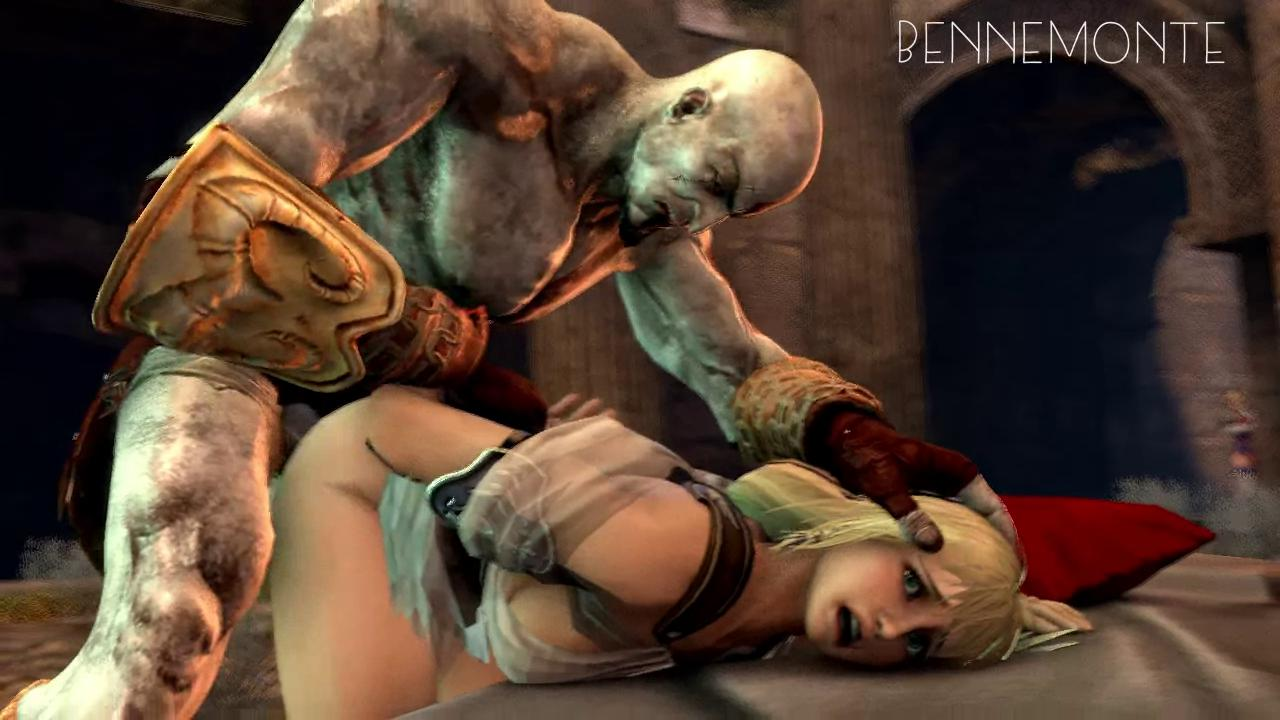 Kratos Brutally Fucks Sophitia Alexandra in Doggystyle