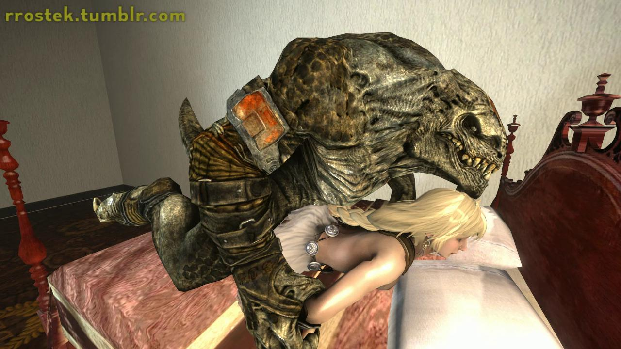 Sophitia in Bed with a Monster