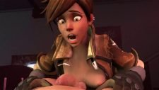 Tracer Enjoying some Guy's Dick Adult Animation