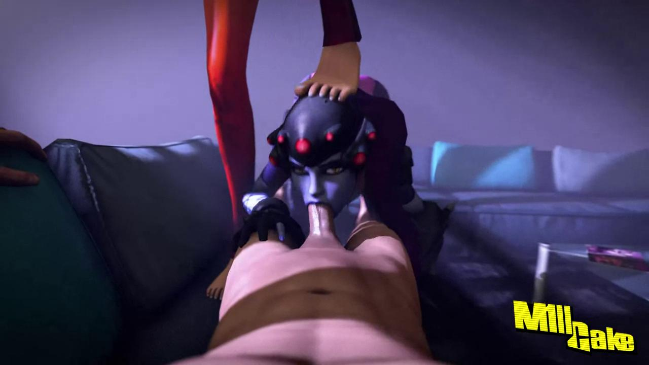Widowmaker Deepthroat Blowjob