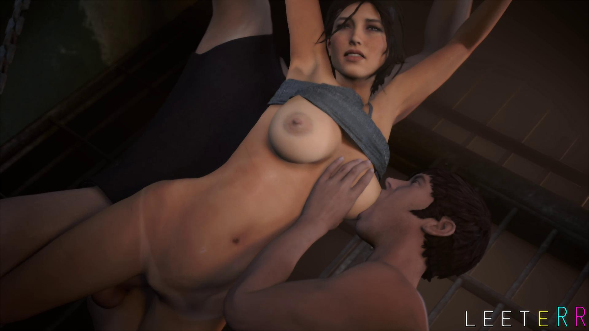 Lara Croft Hardcore Bondage Threesome