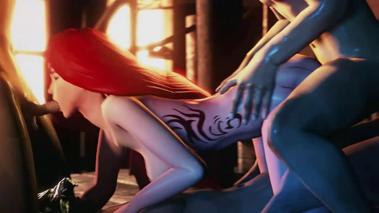 League of Legends Katarina Gangbang