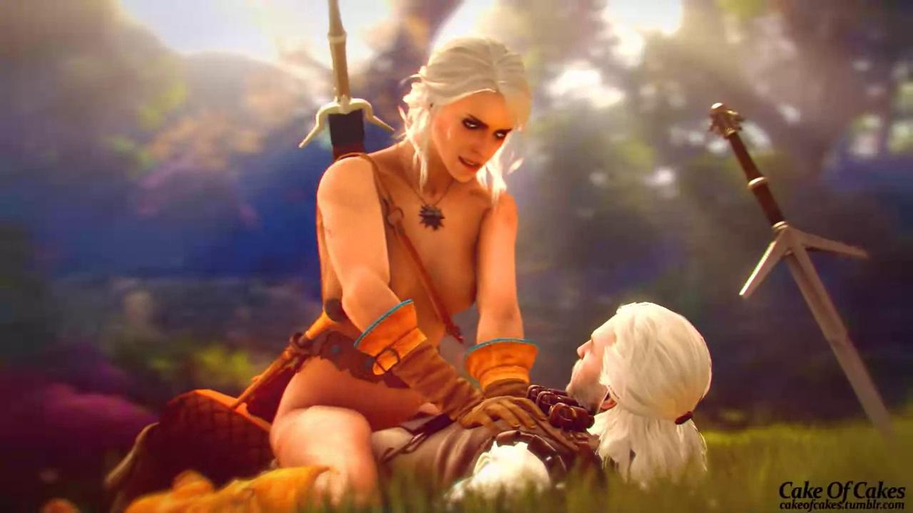 Ciri Riding Geralt's Cock In Morning