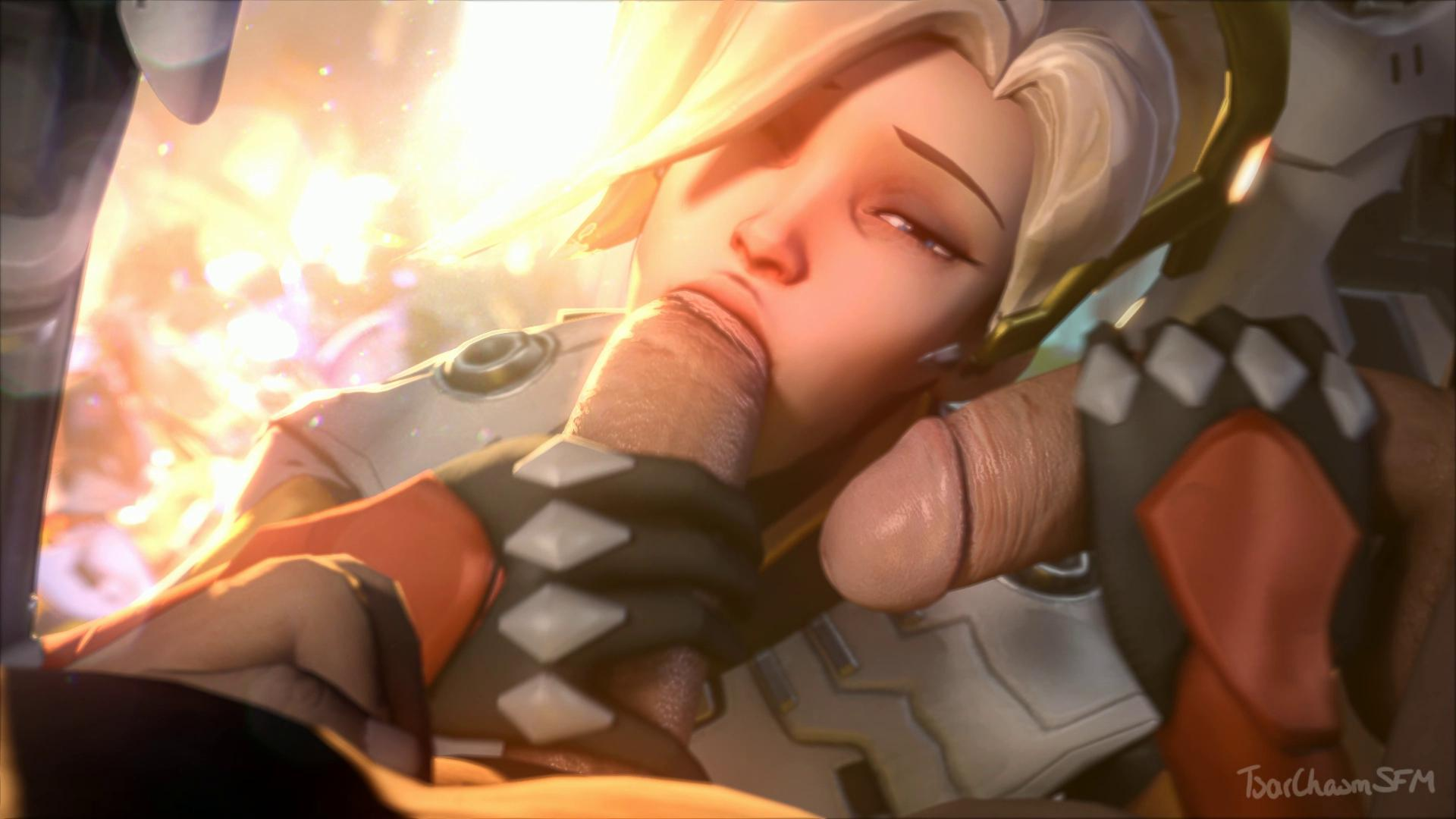 Overwatch Mercy Double Cock