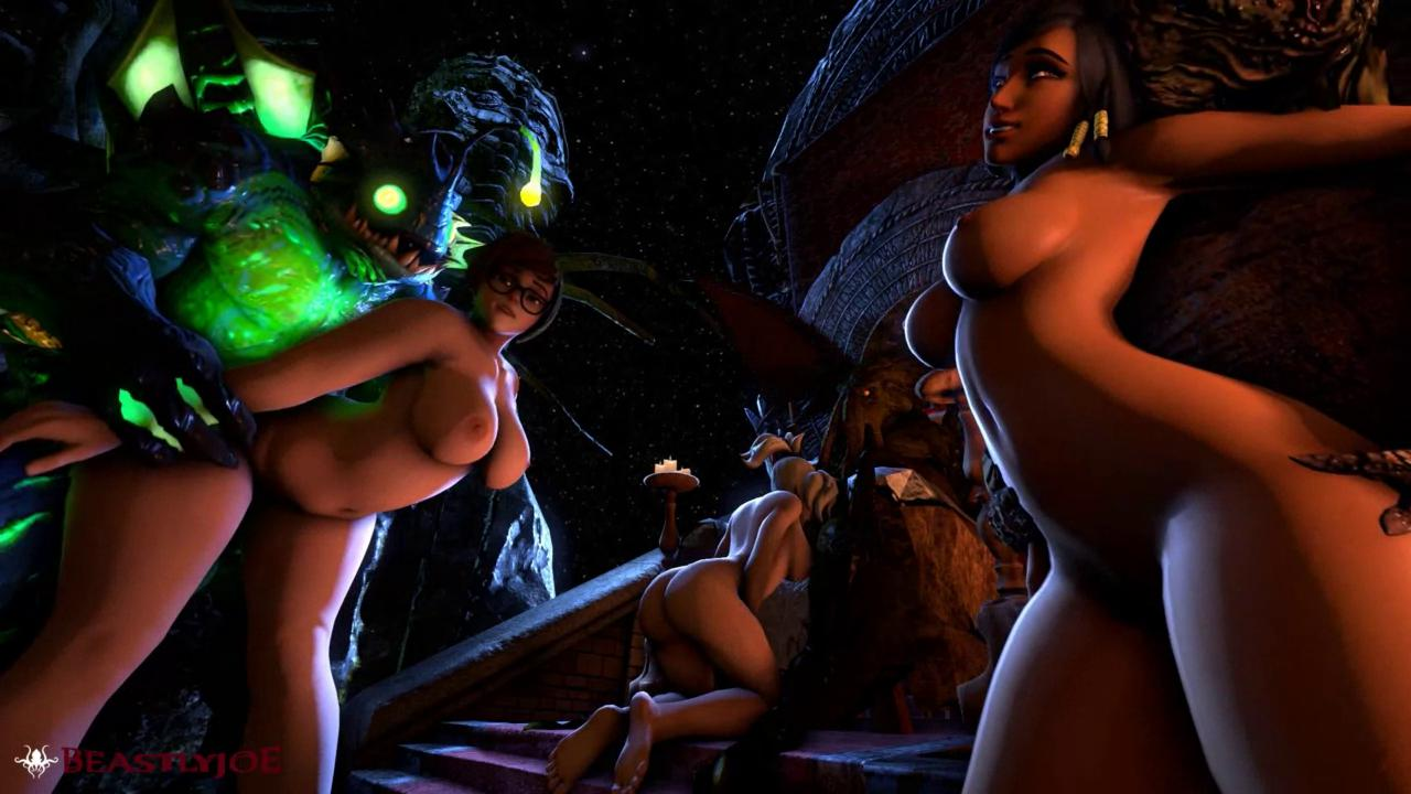 Overwatch Monster Orgy