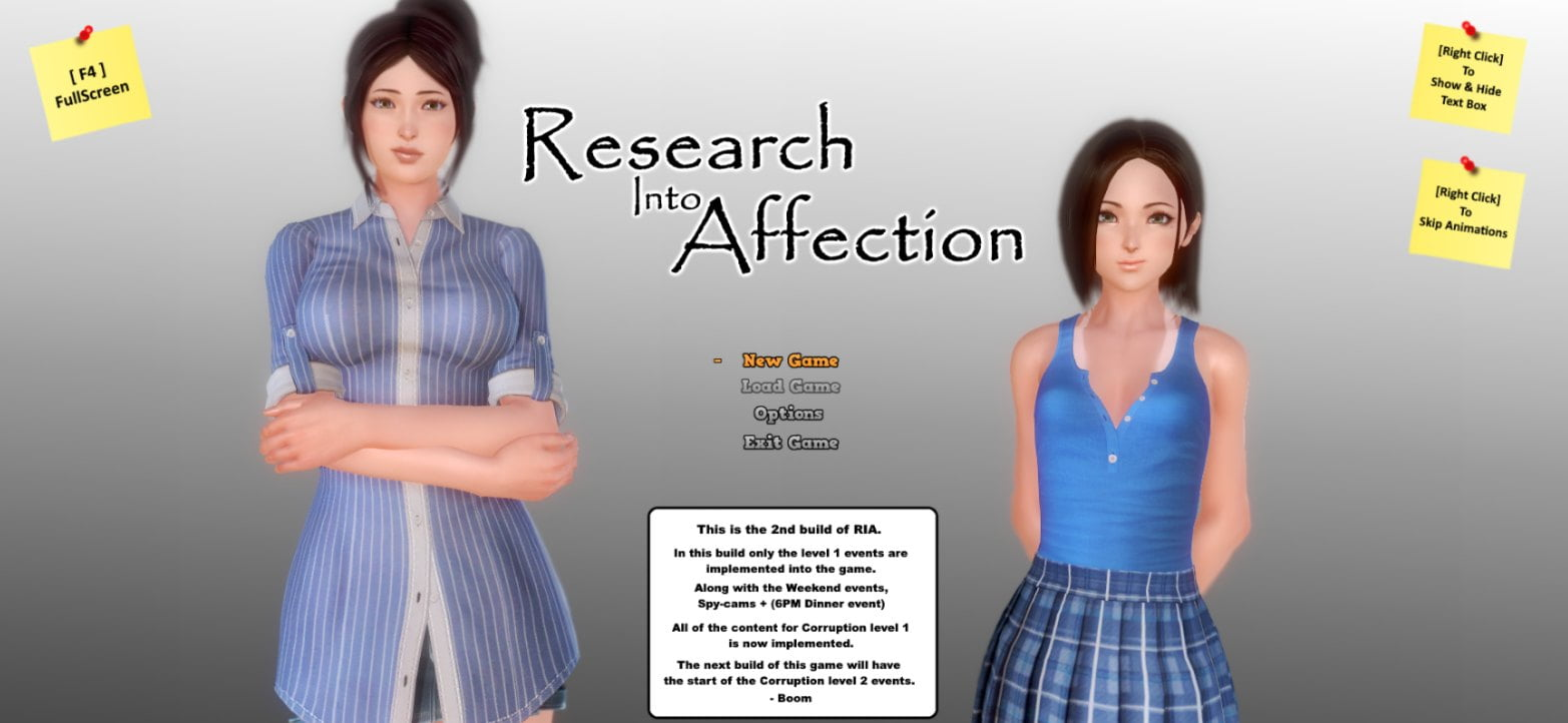 Research Into Affection Adult Game Cover