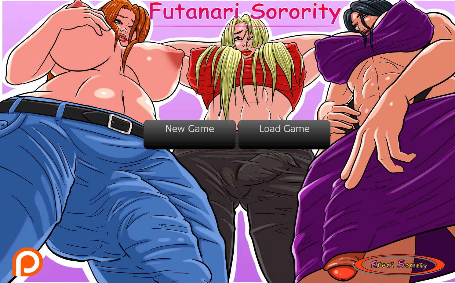 Futanari Sorority Adult Game Cover