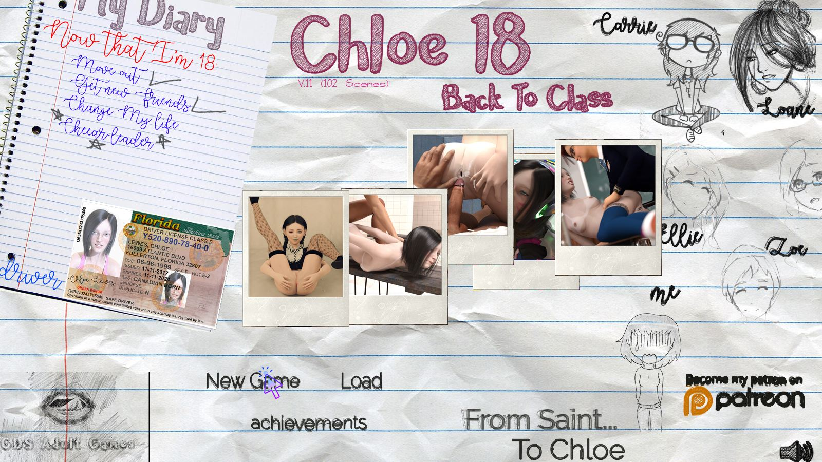 Chloe18: Back To Class Adult Game Cover